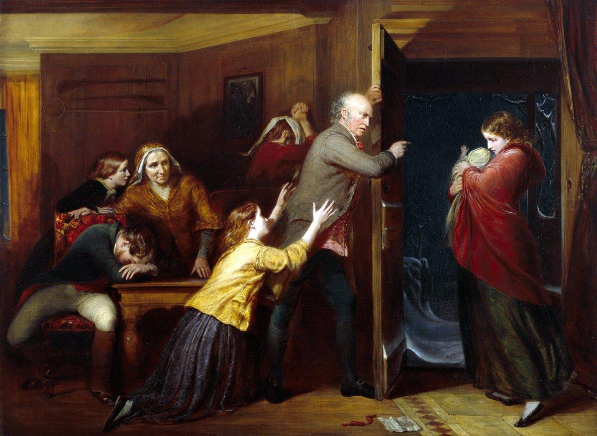 Ричард Редгрейв «Изгнанная», 1851 год