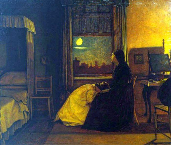 Август Эгг, вторая часть триптиха «Прошлое и настоящее», 1858 год