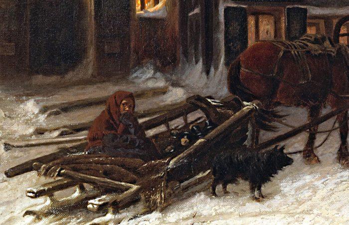 Василий Григорьевич Перов «Последний кабак у заставы», 1868 год , фрагмент