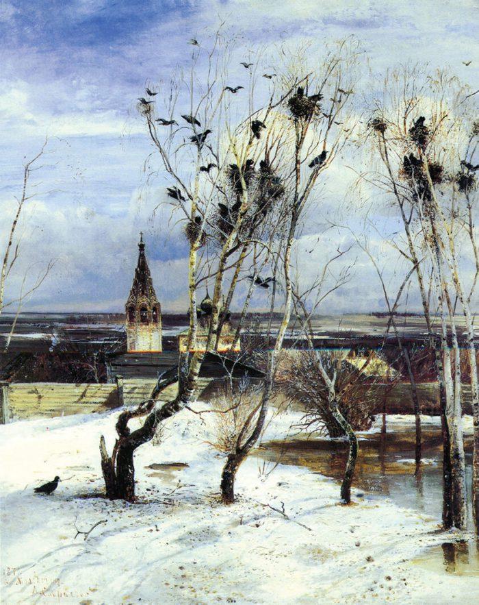 Алексей Саврасов «Грачи прилетели», 1871 год