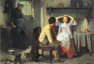 Хейнс Кинг «Ревность и флирт», 1874 год