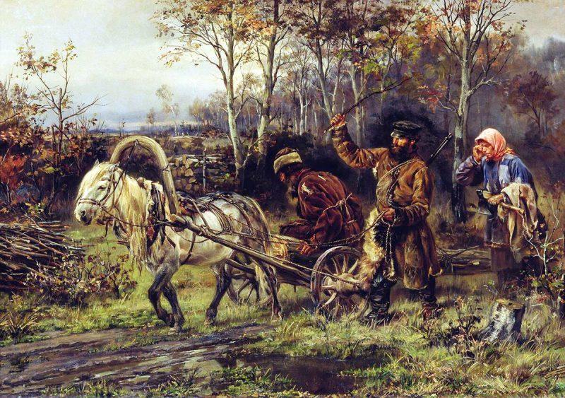 Илларион Прянишников «Порубка», 1874 год
