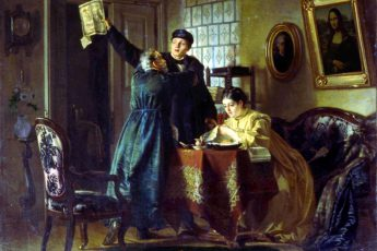 Николай Неврев «Выигрышный билет» (Большой выигрыш), 1874 год