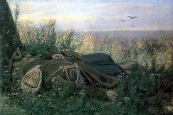 Василий Перов «Странница в поле» (На пути к вечному блаженству), 1879 год