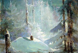 Алексей Саврасов «Хижина в зимнем лесу» ,1888 год