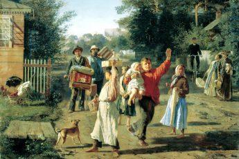 Алексей Корзухин «Петрушка идет!», 1888 год