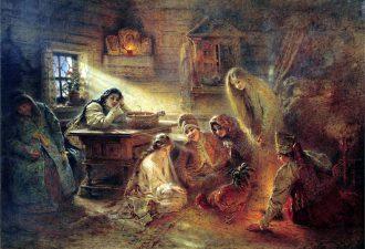 Константин Егорович Маковский «Святочные гадания», 1890 год