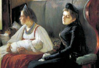 Леонид Пастернак «К родным», 1891 год