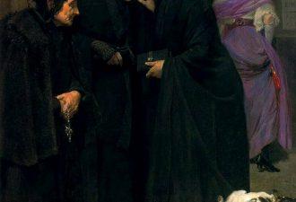 Сальвадор Диас Игнасио Руис де Олано «Наказание сплетницы», 1910 год