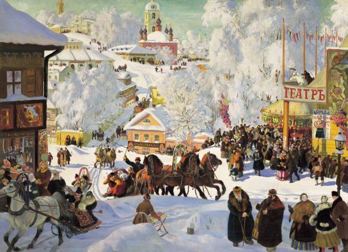 Борис Михайлович Кустодиев «Масленица», 1919 год
