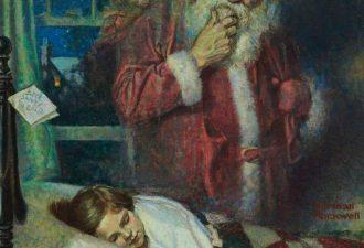 Норман Роквелл «Санта Клаус», 1921 год