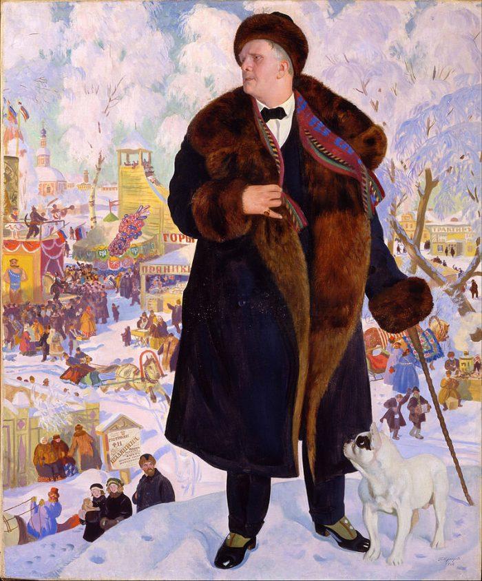 Борис Михайлович Кустодиев «Портрет Шаляпина», 1922 год