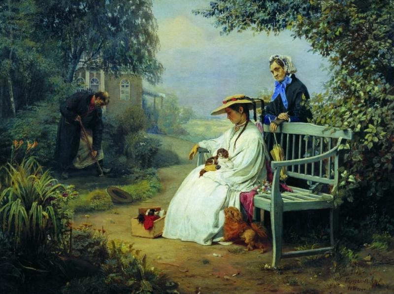 Алексей Корзухин «Похороны собаки», 1871 год