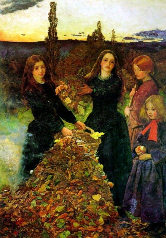 Джон Эверетт Милле «Осенние листья», 1856 год