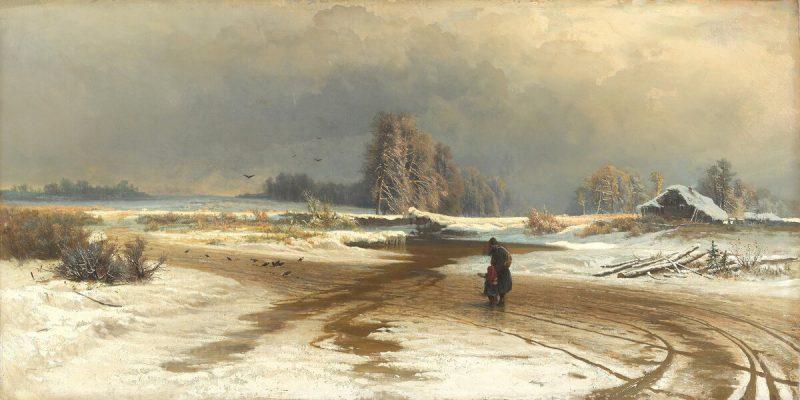 Фёдор Васильев «Оттепель», 1871 год