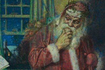 Норман Роквелл «Санта Клаус», фрагмент