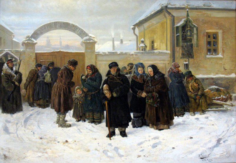 Владимир Маковский «Ожидание», 1875 год