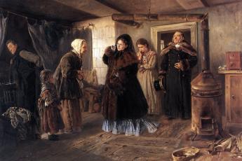 Владимир Маковский «Посещение бедных», 1874 год