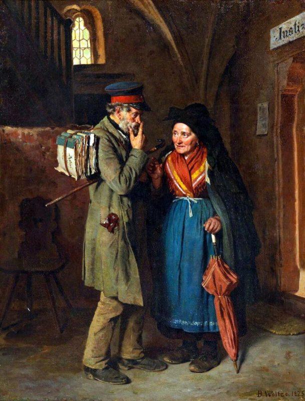 Вольц Бертольд «Хороший совет — это дорого!», 1873 год