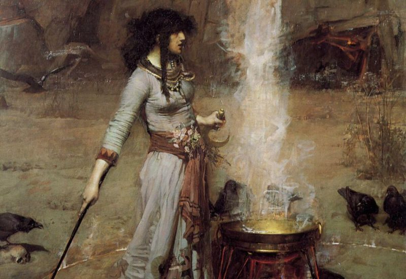 Джон Уильям Уотерхаус «Магический круг», фрагмент