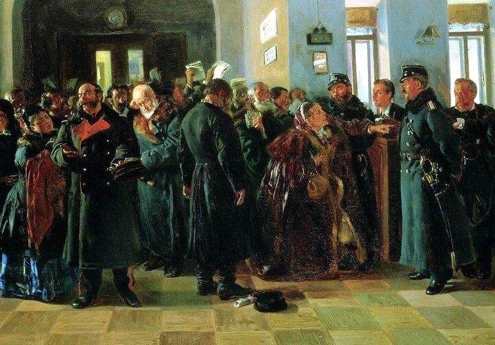 Владимир Маковский «Крах банка», фрагмент