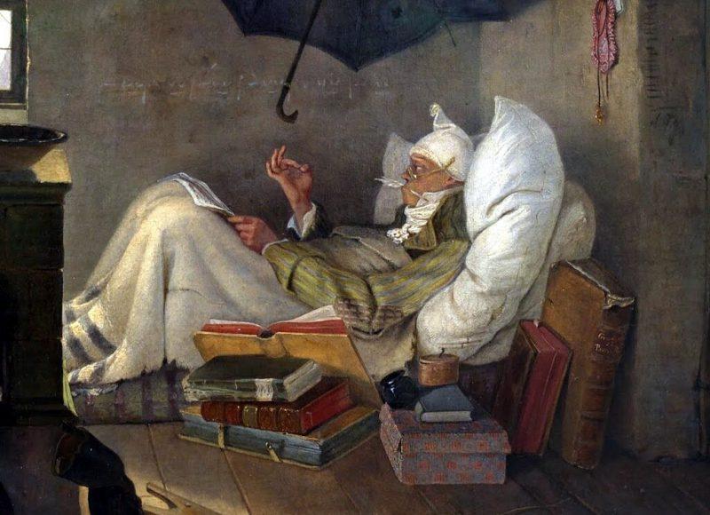Карл Шпицвег «Бедный поэт», фрагмент