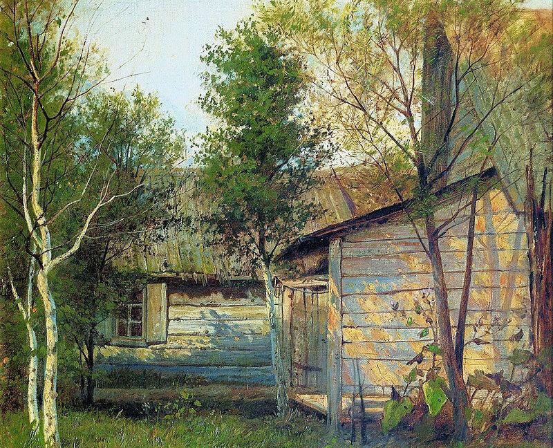 Исаак Левитан «Солнечный день. Весна», фрагмент