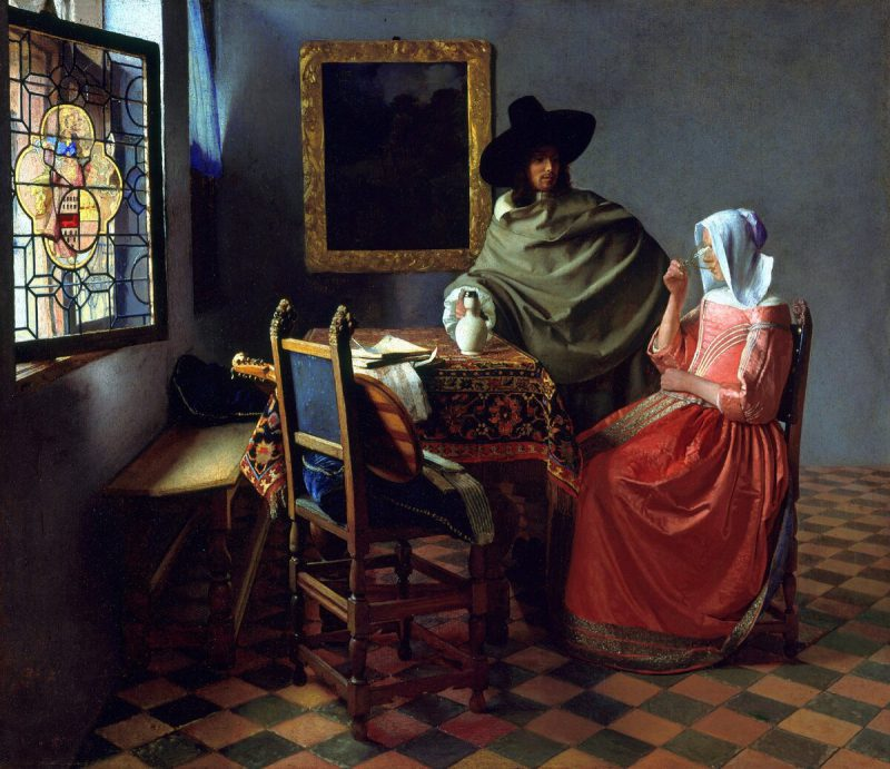 Ян Вермеер «Бокал вина», 1660 год