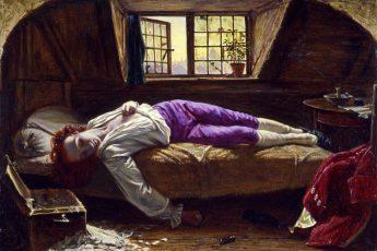 Генри Уоллис «Смерть Чаттертона», 1856 год