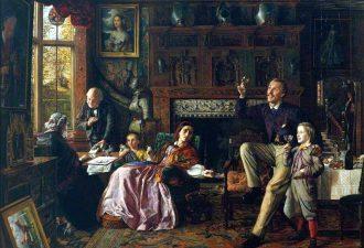 Роберт Брайтуэйт Мартино «Последний день в старом доме», 1862 год