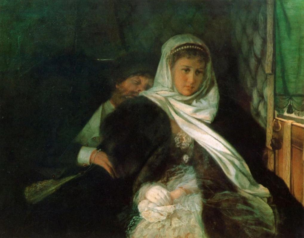 Фирс Журавлев «Возвращение с бала»,1869 год