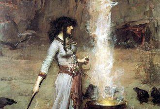 Джон Уильям Уотерхаус «Магический круг», 1886 год