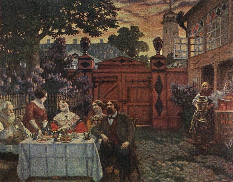 Борис Кустодиев «Чаепитие», 1913 год