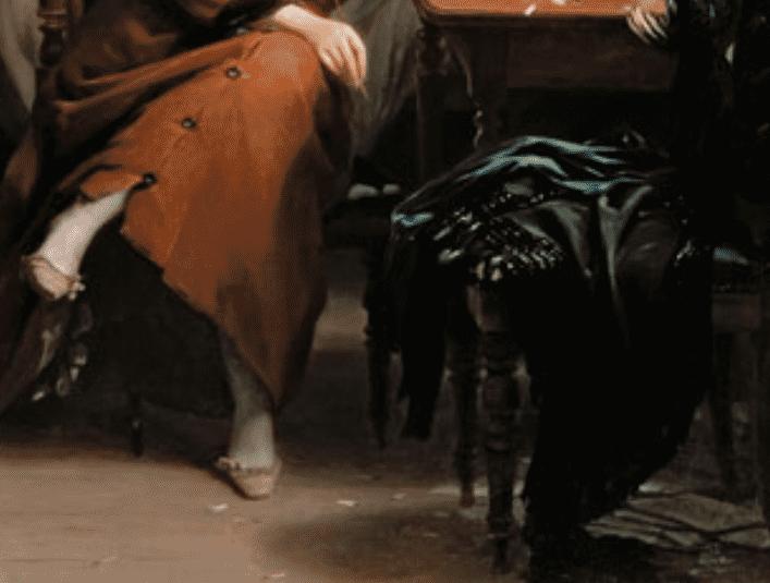 Фриц Цубер-Бюлер «Поэтесса», фрагмент