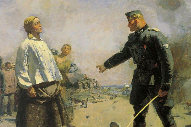 Сергей Герасимов «Мать партизана», фрагмент