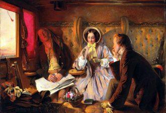 Абрахам Соломон «Первый класс. Встреча и любовь с первого взгляда», 1854 год