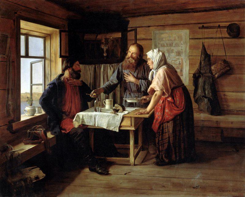 Андрей Попов «Демьянова уха», 1856 год