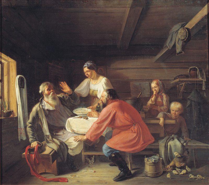 Андриан Маркович Волков «Демьянова уха», 1856 год