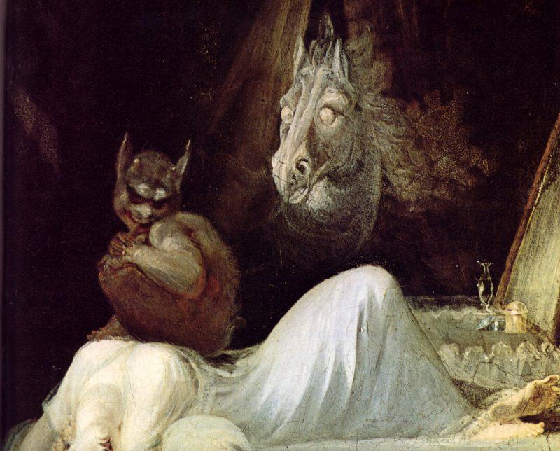Генрих Фюссли «Ночной кошмар», фрагмент