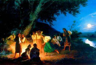 Генрих Семирадский «Ночь накануне Ивана Купалы», 1880-е гг.