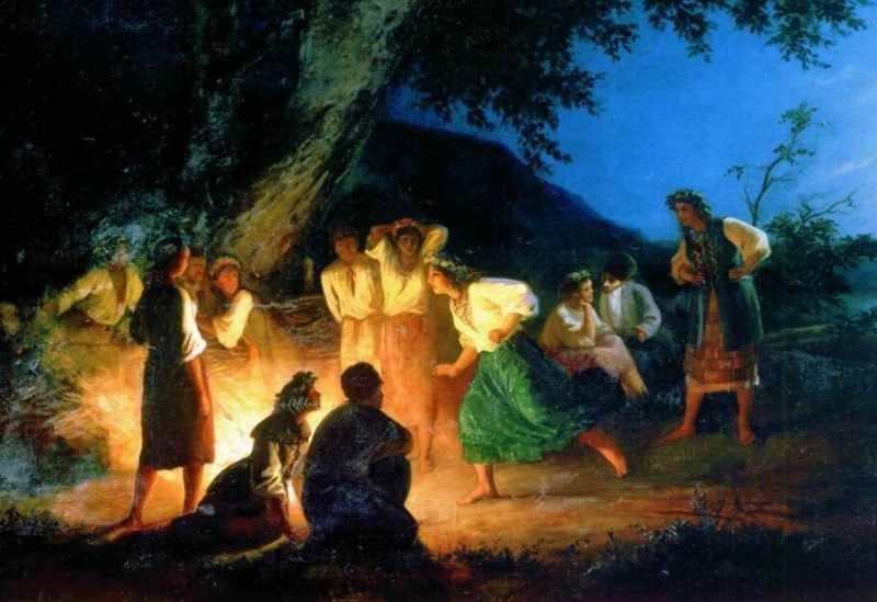 Генрих Семирадский «Ночь накануне Ивана Купалы», фрагмент