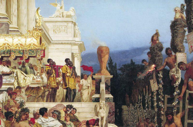 Генрих Семирадский «Светочи христианства. Факелы Нерона», фрагмент