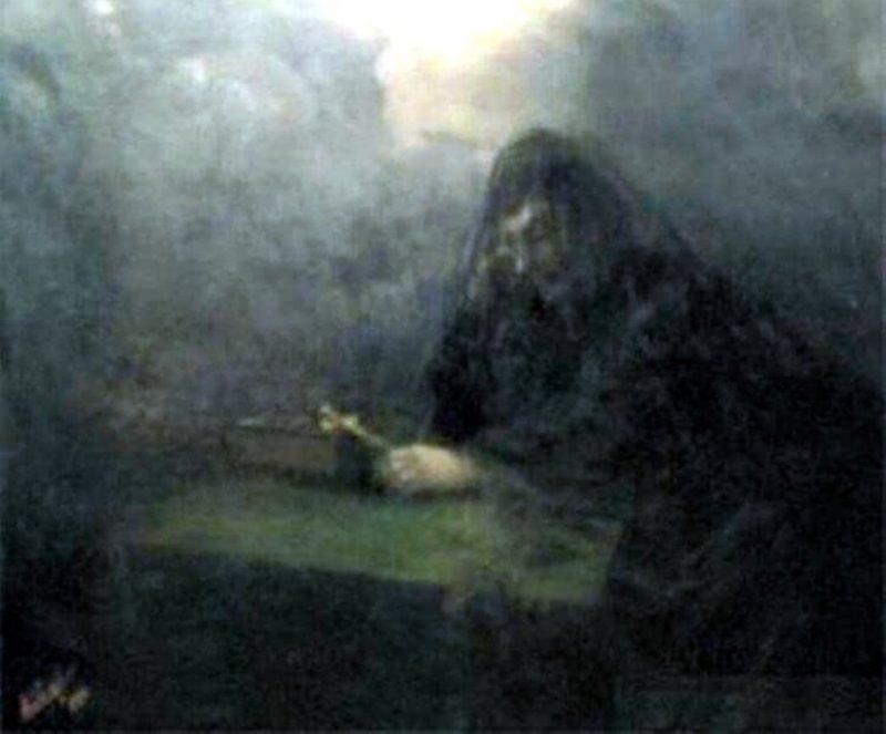Иван Айвазовский, «На смерть Александра III», фрагмент