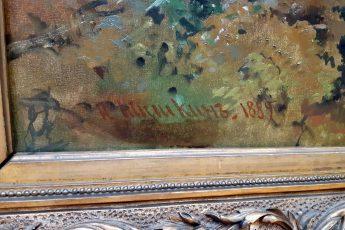 Иван Шишкин «Утро в сосновом лесу», подпись Савицкого размазана скипидаром