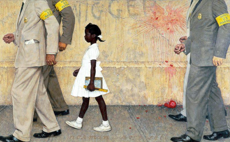 Норман Роквелл «Проблема, с которой все мы живём», 1964 год