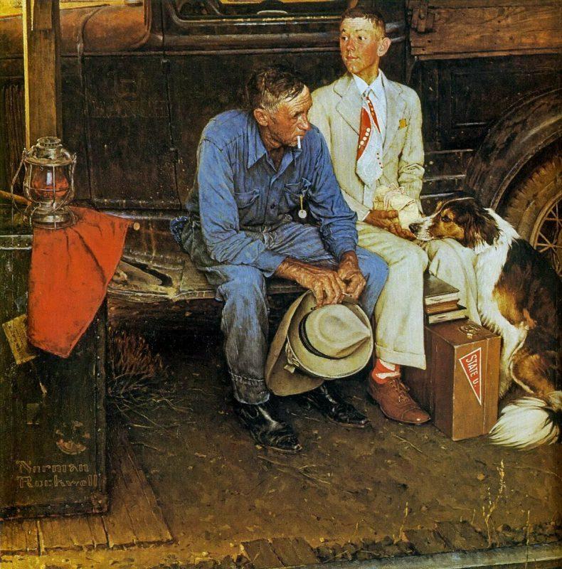 Норман Роквелл «Разрывая семейные узы», 1954 год