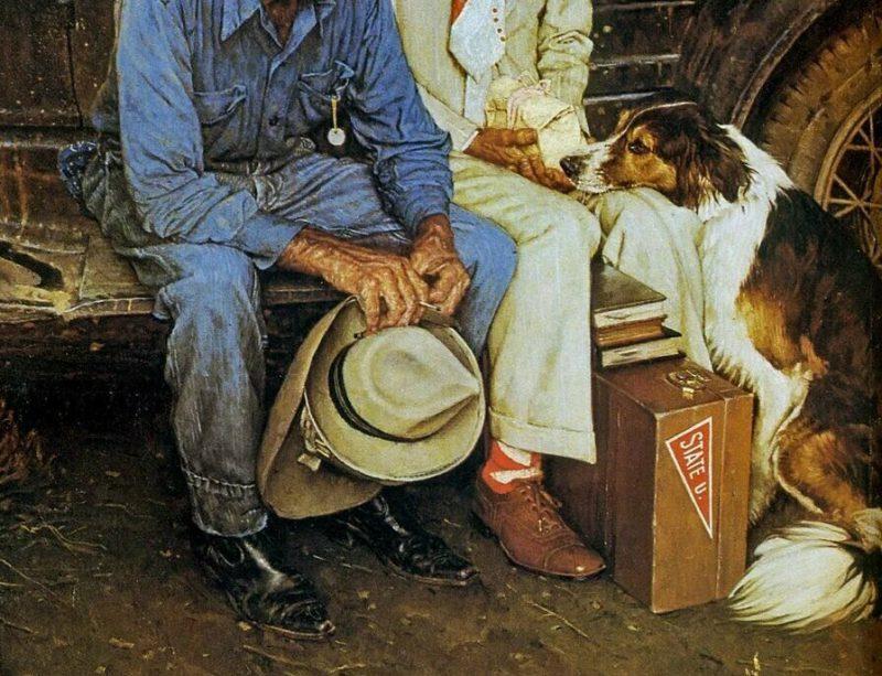 Норман Роквелл «Разрывая семейные узы», фрагмент