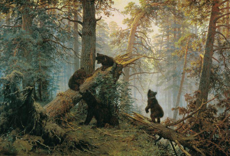 Шишкин Иван Иванович «Утро в сосновом лесу», 1889 год