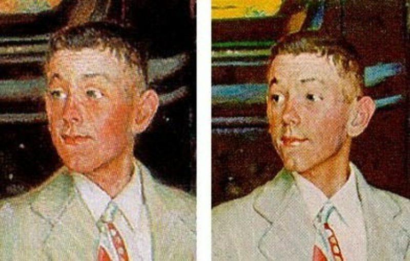 Сравнение лиц юноши копии и оригинала