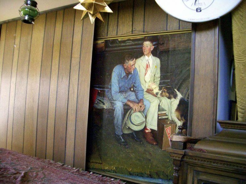 Тайник с картинами в доме Трахта
